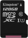 Kingston Canvas Select - Carte mémoire microSDXC - 128 Go - Noir