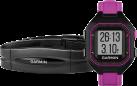 GARMIN Forerunner 25 Bundle Small - Esecuzione di Guarda GPS - Fascia cardia Standard - Nero/Viola