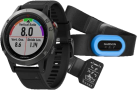 GARMIN fenix 5 - Smartwach mit Performer-Bundle - Herzfrequenzmessung - Grau/Schwarz
