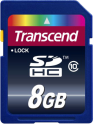 Transcend Carte mémoire flash, 8 Go, Class 10, SDHC