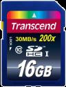 Transcend Flash-Speicherkarte, 16 GB, Class 10, SDHC