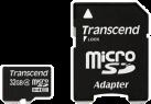 Transcend microSDHC Class 4 Karten, 32 GB, mit Adapter