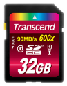 Transcend Scheda di memoria flash, 32 GB, Class 10, UHS-I 600x