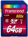 Transcend SDXC Class 10 UHS-I (Ultimate) Scheda di memoria flash, 64 GB