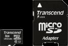 Transcend microSDHC Premium 300x, 8 Go, avec adaptateur