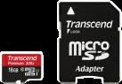 Transcend microSDHC (Premium) 300x, 16 GB, con adattatore