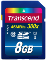 Transcend SDHC Class 10 UHS-I (Premium) Carte mémoire flash, 8 Go