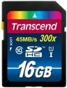 Transcend SDHC Class 10 UHS-I (Premium) Carte mémoire flash, 16 Go