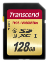 Transcend Ultimate Scheda di memoria flash, 128 GB, UHS Class 3