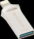 Transcend JetDrive Go 500 - USB Stick - 64 GB - Silber