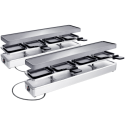 KOENIG Raclette Duo 4 and more - Raclettegrill - Für 8 Personen - Silber