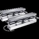 KOENIG Raclette Duo 4 and more - Appareil à raclette - Pour 8 personnes - Argent