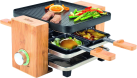 KOENIG B02167 - Raclette grill - 4 Personen - Bambus/Schwarz