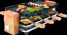 KOENIG B02169 - Raclette grill - 8 Personen - Bambus/Schwarz
