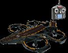 Infiniti RC Aircraft Carrier - Drohne - Für Luft, Land und Wasser - Schwarz
