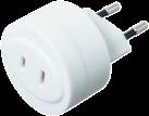 STEFFEN Adattatore T11 Euro-USA - Max. 6.3 A - Bianco