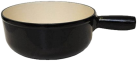 Heidi Cheese Line 26752000 Caquelon Gusseisen - Fondue au fromage à induction - Ø 23 cm - Noir