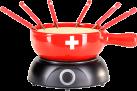 Nouvel Käsefondue Set - CH Relief - elektrisch - Rot
