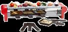 NOUVEL Raclette électrique, pierre, rouge