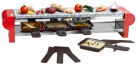NOUVEL Raclette-Gerät Steingrill, rot