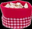 Nouvel Panier pour pain Karo - Rouge / Blanc