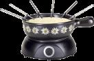 Nouvel Käsefondue - Set Edelweiss - elektrisch - Schwarz
