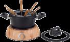 NOUVEL Set à fondue chinoise Wood - 9 parties - Noir/Brun