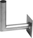 Smart Supporto da parete in alluminio - Per antenna parabolica fino a 88 cm - Distanza dal muro: 15 cm - Argento