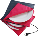 Solis Chauffe assiette King Size, anthracit/rouge