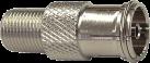 RAMA C23-026 - F/IEC-Adapter -  Koax-Kupplung 9.5 mm - Silber