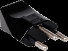 S-Electro Stecker Typ 12, schwarz