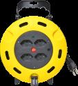 Schönenberger 85.3005.KB - enrouleur de câble électrique - 5m - 4x type 13 - jaune/noir