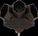S ELECTRO Fiche de dérivation 3 x T.13 classic, noir