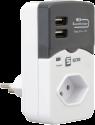 S ELECTRO adattatore a protezione sovratensione, con 2 USB Charger