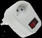 HEITRONIC Derivateur 1x T.13 avec interrupteur lumineux