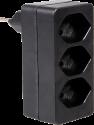 S ELECTRO Abzweigstecker 3 x T.13, schwarz