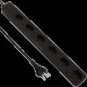 S ELECTRO Steckdosenleiste 6xT.13 Quersteckdosen, schwarz