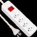 S ELECTRO Steckdosenleiste 4xT.13, mit Schalter, weiss