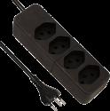 S ELECTRO Steckdosenleiste 4xT.13, schwarz