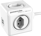 Allocacoc PowerCube Extended USB - 4x T.13, 2x USB 5V, 2.1A - weiss