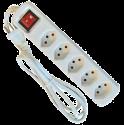 S-Electro Steckdosenleiste 5x T.13 mit Schalter, weiss