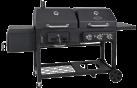 BBQ DRAGON All in One - Grill - Kombigrill - 3 individuell regulierbare Brenner - Grillfläche: 57 cm x 46 cm, schwarz