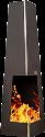 NOMLILO Clarita S - Caminetto giardino - Fino a 650 ° C a prova di fuoco - Nero
