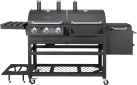 BBQ Dragon All-In-One 2.0 - Barbecue combinato gas e legna - 7500 W - Nero