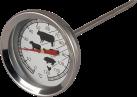 BBQ Dragon 752.14.00 - Thermomètre à viande - Analogue - Acier inoxydable