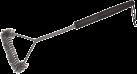 KOENIG Dreiseitige Grillbürste, Stahlborsten