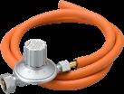 TTM 800.091 - Variabler Druckregler mit Hochdruckschlauch - 25–50 mbar - Edelstahl/Orange