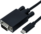 roline Adapterkabel - USB Typ C-VGA M/M - 1 m - Schwarz