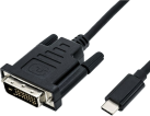 roline Adapterkabel - USB Typ C-DVI M/M - 1 m - Schwarz
