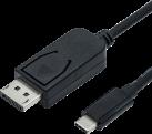 roline Cavo adattatore - USB Typ C-DisplayPort, v1.2, M/M - 1 m - Nero